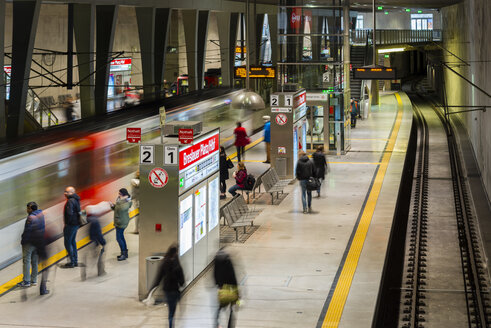 Germany, Cologne, newly built underground station Breslau Square - WG000635