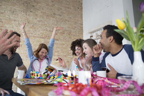Group of friends celebrating birthday - FKF000968