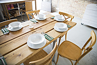 Laid table a modern individual bistro - FKF001049
