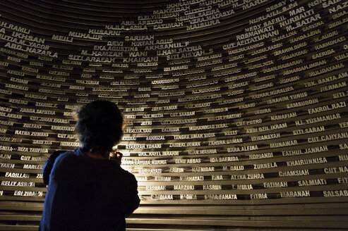 Indonesia, Banda Aceh, Aceh Tsunami Museum, names of victims - FLK000591