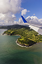 Caribbean, Antilles, Lesser Antilles, View from air plane to Island Saint Lucia - THAF001362