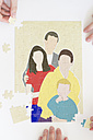 Jigsaw puzzle with image of stepfamily - CMF000253