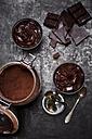 Glasses of homemade vegan Mousse au Chocolat - CZF000199
