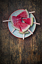 Plate of watermelon popsicles - LVF003345