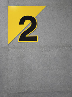 Number two on wall - JMF000338