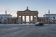Germany, Berlin, Brandenburg Gate at dawn - ASCF000129