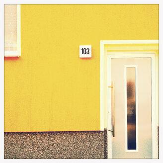Coloured house front in Dessau, Germany - MEM000736