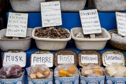 Morocco, Essaouria, spices and soaps at the market - HSKF000030