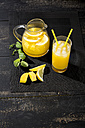 Cooled soft drink made of mango, lemon and mint - MAEF010466