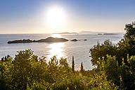 Greece, Corfu, Afionas, sunset at the coast - EGBF000043