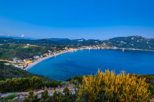 Greece, Corfu, Agios Georgios bay in the evening - EGBF000068