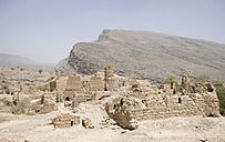 Oman, Tanuf, destroyed loam house settlement - HLF000880