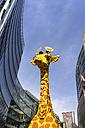 Germany, Berlin, Potsdamer Platz, Legoland, giraffe figurine - EGB000088
