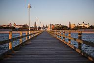 Germany, Mecklenburg-Western Pomerania, Baltic Sea, pier of Zinnowitz at dawn - ASCF000166