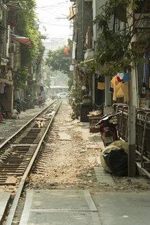 Vietnam, Hanoi, railway line - SJF000147