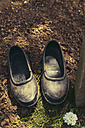 Pair of used black rubber garden shoes - BZF000145