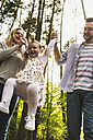 Happy family in forest - UUF004294