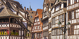 France, Alsace, Strasbourg, Petite France, half-timbered houses - WDF003112