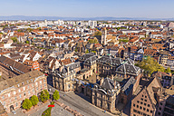 France, Alsace, Strasbourg, View over old town and Palais Rohan - WDF003113
