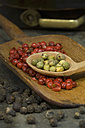 Green, red and black peppercorns - ASF005598
