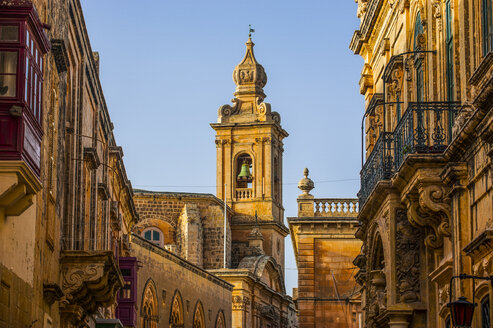 Malta, Mdina, View to bell tower - RUNF000113