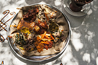 Ethiopia, Traditional food of lentils and vegetables - PAF001402