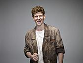Portrait of laughing redheaded man - RH000899