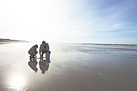 South Africa, Witsand, father and son on the beach - ZEF005302