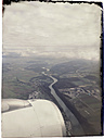 View on an aircraft engine, crossing river Rhine, border of Germany and Switzerland - MS004601