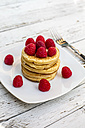 Pancakes with strawberries on plate - SARF001806