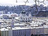 Austria, Salzburg State, Salzburg, Old town, College church in winter - AMF004054