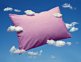 Pillow and clouds, dreaming and sleep - RAMF000059