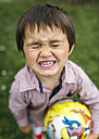 Angry little boy with closed eyes - MGOF000277