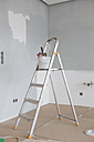 Paint bucket and roll on ladder - RBF002822