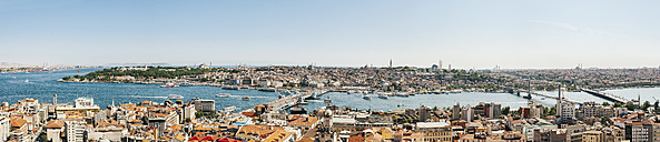 Turkey, Istanbul, Galata, Panoramic cityscape with Bosphorus - BZF000156