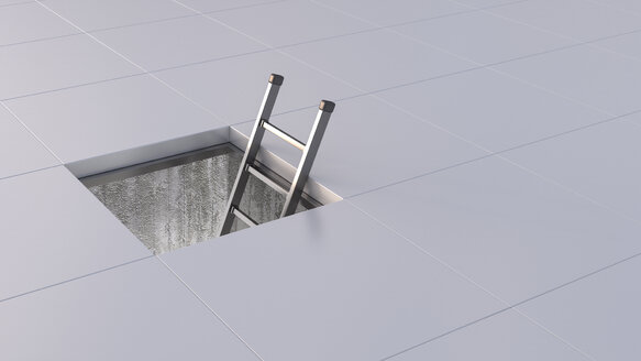 3D Rendering, ladder and duct - UWF000517