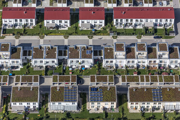 Germany, Bavarian, Poing, development area, terraced houses - KLEF000017