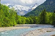 Germany, Bavaria, Allgaeu, Trettach Valley near Oberstdorf, Trettach river - WGF000665