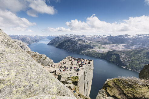 Norway, Ryfylke, Preikestolen, Pulpit Rock and Lysefjord - STDF000194