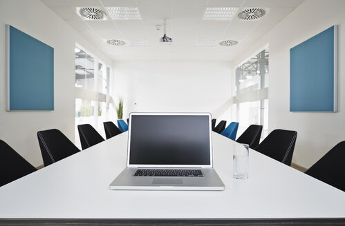 Laptop on conference table - PDF001057