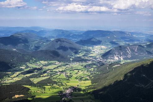 Austria, Lower Austria, Vienna Alps, View from Schneeberg to Puchberg am Schneeberg - SIEF006597