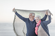 South Africa, Cape Town, happy senior couple on the beach - ZEF005663