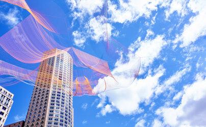 USA, Boston, Aerial Sculpture at Dewey Square - SEG000397