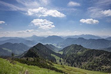Germany, Bavaria, Chiemgau Alps, view from Hochfelln eastwards - SIEF006616