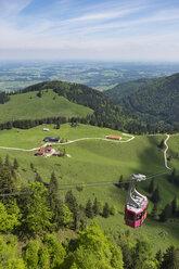 Germany, Bavaria, Chiemgau Alps, Bruendlingalm and Hochfelln cable car - SIE006618