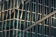 Germany, Munich, reflection of Highlight Towers in an other building - TCF004704