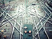 Germany, Hamburg, railway signal - KRPF001437