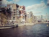 Germany, Hamburg, Hafencity, Grasbrook Harbour and Magellan Terrace - KRPF001455