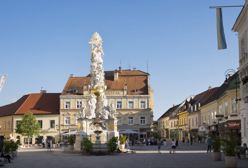 Austria, Lower Austria, Baden, Plague Column on main square - SIEF006629