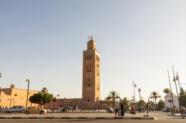 Morocco, Marrakesh, view to Koutoubia Mosque - JUNF000320